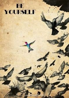 Be yourself quotes colorful birds art autism hopecenter4autism.org
