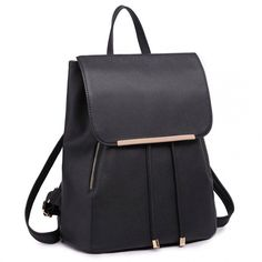 Buy Black Faux Leather Backpack from La Mac. Faux Leather Backpack, Leather Purses, Handbags On Sale, Purses And Handbags, Cheap Purses, Rucksack Backpack, Black Faux Leather, Pu Leather, Long Wallet