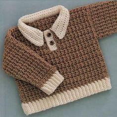 Crochet For Children: Baby-boy pullover crochet free pattern