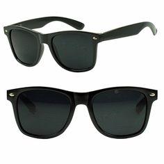 1517bd4a83 Mens Womens Basic Round Classic Original Spring Hinge Wayfarer Dark  Sunglasses Round Face Sunglasses