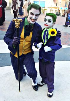 Anthony Misiano (Harley's Joker) with little kid Joker cosplay Dc Cosplay, Joker Cosplay, Best Cosplay, Cosplay Costumes, Batman Halloween, Halloween Costumes, Anthony Misiano, Joker Art, Joker Joker