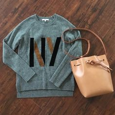 """Madewell NY grey sweater Worn less than 3x in great condition. No stain or tears. From shoulder to back hem is 24.5"""". The back hem is longer than front. No trade Madewell Sweaters Crew & Scoop Necks"""