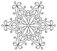 Baroque Noel - Frilly Flake design (UTH7153) from UrbanThreads.com