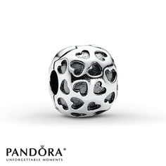 Complete MY Bracelet!!  Pandora Clip Showered with Love Sterling Silver