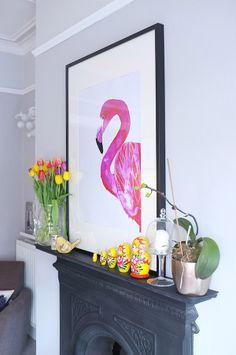 Flamingo and matriuska dolls two of my favorite things :D