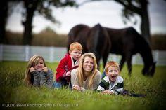 Family Photo with horses