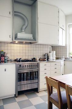 Modernistiskt funkiskök Kitchen Island, Kitchen Cabinets, Cooker Hoods, Living Spaces, Utensils, Functionalism, Blogg, Cooking, Interior