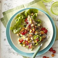 Vegetarian Recipes for Every Occasion - Peach-Cucumber-Barley Salad