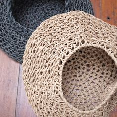 Paper Cord Round Basket Natural