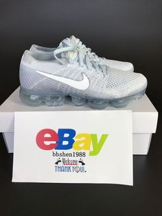 newest 8dea6 2395f New Nike Air Vapormax Flyknit 849557-004 Pure PlatinumWhite
