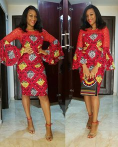 """Whenever our style game is in need of a little sprucing, we know we can always count on some glam ladies who always take Ankara to the next level with their trendy styles. With their confident and bold styles, they never fail to show us that how you can slay perfectly in Ankara.... """"More is..."""