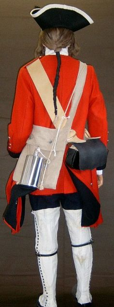Uniform worn by a private in the 60th Royal Americans, circa 1759, as viewed from the back.