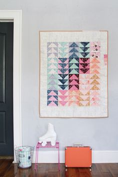 Playground Products Inspiration: Quilt - Modern quilt made with Playground fabrics by Amy Sinibaldi.