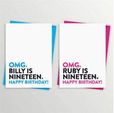19th birthday card by a is for alphabet | notonthehighstreet.com