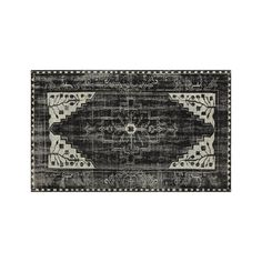 Anice Black Hand Knotted Oriental 5'x8' Rug | Crate and Barrel