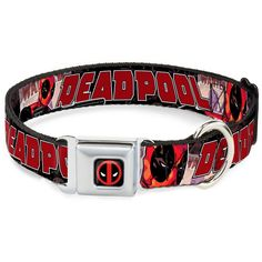 Buckle-Down DPA Dead pool Logo Black/Red/White Dog Collar ** Read more at the image link. (This is an affiliate link and I receive a commission for the sales)