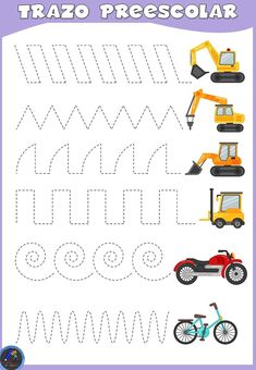 Fun Worksheets For Kids, First Grade Math Worksheets, Tracing Worksheets, Preschool Worksheets, Craft Activities For Kids, Writing Activities, Preschool Lesson Plans, Free Preschool, Transportation Preschool Activities