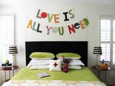 Splendida #decorazione per la testata del #letto. #parete