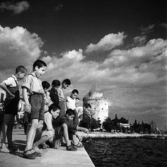 Fishing in Salonica 1965 Macedonia Greece, Athens Greece, Greece History, Greece Pictures, Old Greek, Greece Photography, Greek Culture, Pub, Greece Travel