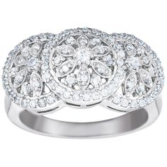 Spectacular .49ct Prong Set Round Cubic Zirconia Sterling Silver Ring - $65