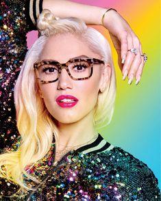 "cherry-onn: ""Gwen Stefani photoshoot for Jamei Nelson. "" My fav pics of Gwen Stefani (my everything). Gwen Stefani Mode, Gwen Stefani And Blake, Gwen Stefani Style, Gwen Stefani Fashion, Gewn Stefani, Cute Glasses, Girls With Glasses, Glasses Style, Hot Pants"