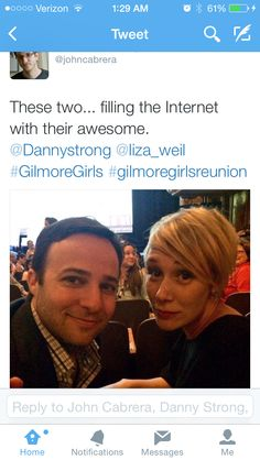 Danny Strong and Liza Weil, ATX Gilmore Girls Reunion, Austin, TX, June, 2015.