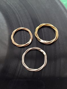 Recycled Guitar String Stacking Ring in YOUR by foxdesignsjewelry