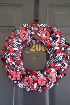 Arkansas Razorback wreath
