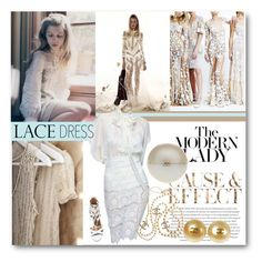 """#Lace Dress - Modern Lady"" by nikkisg ❤ liked on Polyvore featuring Envi, Aquazzura, Chanel, modern and lacedress"