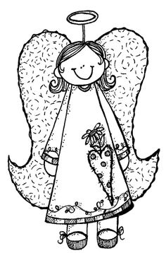 Free Angel Clip Art Black and White - Bing Images Christmas Angels, Christmas Art, Angel Pictures, Angel Images, Country Paintings, Christmas Embroidery, Hand Embroidery Patterns, Digi Stamps, Coloring Book Pages