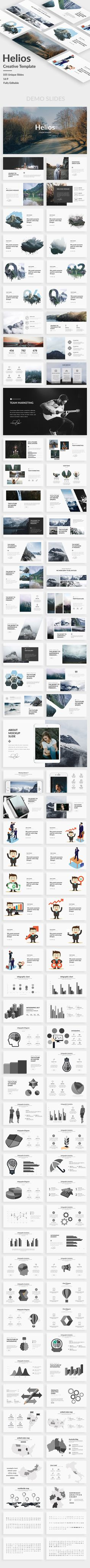 Helios Creative Powerpoint Template — Powerpoint PPT #startup #modern • Available here ➝ https://graphicriver.net/item/helios-creative-powerpoint-template/20707938?ref=pxcr