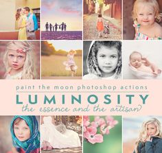 Luminosity Photoshop Actions by Paint the Moon (Brand New!)