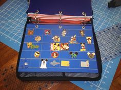 great idea with zipper binder and sheets of foam.....Today at Our Treehouse: Pin Trading Book Tutorial