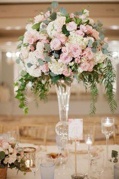 Floral Wedding Centerpieces Planning and Tips - Love It All Star Wedding, Floral Wedding, Wedding Bouquets, Wedding Flowers, Flower Bouquets, Purple Wedding, Wedding Dresses, Tall Wedding Centerpieces, Flower Centerpieces