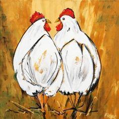 Twee koren kippen