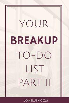 breakup to do list
