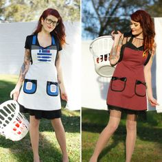 These aprons are the ultimate in geek chic.