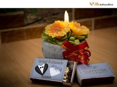 Printable Custom Designed Matchbox Labels for Wedding by VSstudio