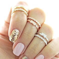 girlsluv.it - ribbon knuckle ring, crystals $16