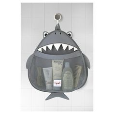 3 Sprouts Baby Bath Organizer - Shark Not necessary, but it's cute and keeps the baby stuff off the sides of the tubs where the babe can grab it Shark Nursery, Shark Room, Shark Bathroom, Baby Bathroom, Bath Toy Storage, 3 Sprouts, Baby Bath Time, Toy Organization, Bathroom Organization
