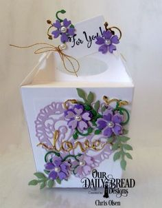 Our Daily Bread Designs Stamp Set: Let Love Grow, Our Daily Bread Designs Custom Dies:Glorious Gable Box, Bitty Blossoms, Leaves and Branches,Tulip Heart, Love Script, Tag Trio