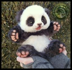 Handmade Poseable Baby Panda! by Wood-Splitter-Lee.deviantart.com on @DeviantArt