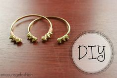 encourage fashion: DIY: Bangle Bracelets from your old hoop earrings