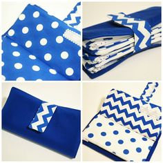 ONLY ONE LEFT Blue and White Cash Envelope by TheWhimsicalTree, $41.00