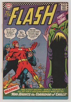 Flash V1 162. VF. June 1966.  DC Comics by RubbersuitStudios #flash #comicbooks