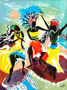 African Dancers No. 4 ~ by Elisabeta Hermann.  always loved the dance!!