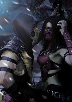 Scorpion (MK),MK Fighters,Mortal Kombat,Мортал Комбат, Mortal Combat,фэндомы,Mileena,Милена