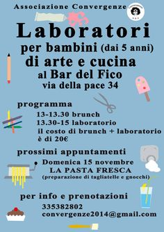 #laboratorio #kidslab #convergenze #cucinaperbambini
