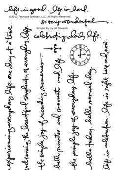 Ali Edwards (May Studio AE) stamp set