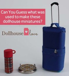 Dollhouse #Miniatures Made from Recycled Household Products - Dollhouse Love is a new ecommerce site for #DIY #dollhouse decorating and their blog is full of DIY accessory projects